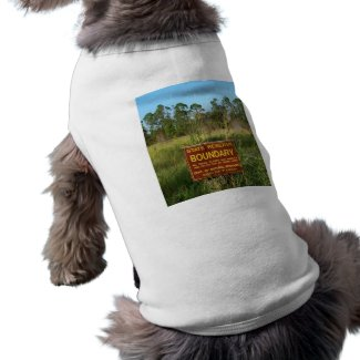 State park boundary sign Savannas background petshirt
