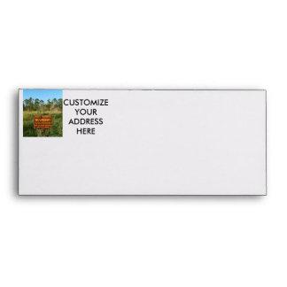 State park boundary sign Savannas background Envelopes