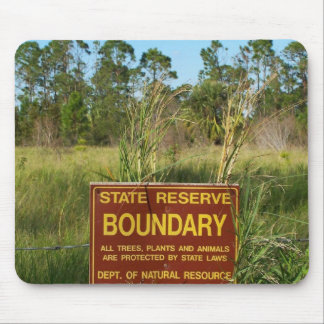 State park boundary sign Savannas background Mouse Pad