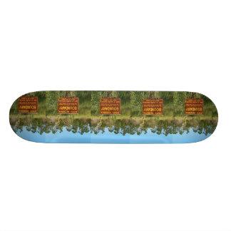 State park boundary sign Savannas background Custom Skateboard