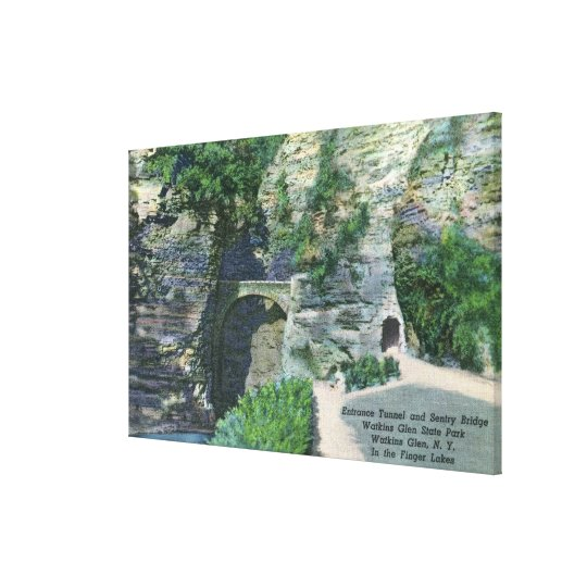 State Park Entrance Tunnel and Sentry Bridge Canvas Print
