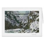 State Park Gorge Suspension Bridge View in Cards