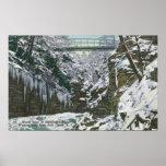 State Park Gorge Suspension Bridge View in Print