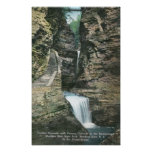 State Park View of Curtain and Cavern Cascades Print