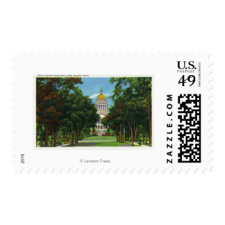 State Park View of the State Capitol Building Postage Stamp