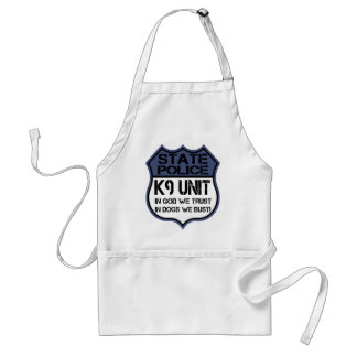 State Police K9 Unit In God We Trust Motto Adult Apron