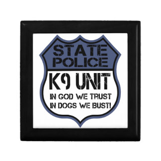 State Police K9 Unit In God We Trust Motto Gift Box
