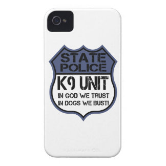 State Police K9 Unit In God We Trust Motto iPhone 4 Cases