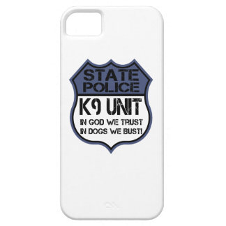State Police K9 Unit In God We Trust Motto iPhone 5 Case