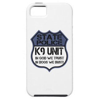 State Police K9 Unit In God We Trust Motto iPhone 5 Cases