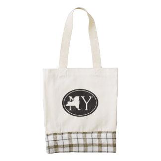 State Pride Euro: NY New York Zazzle HEART Tote Bag