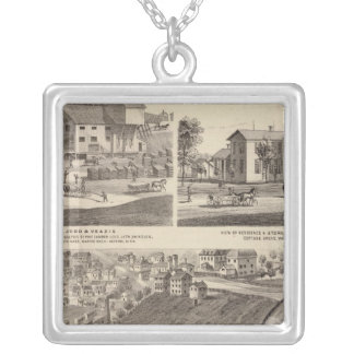 State Prison of Minnesota Silver Plated Necklace