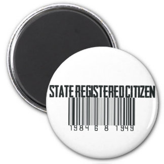 State Registered 2 Inch Round Magnet