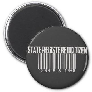 State Registered Citizen 2 Inch Round Magnet