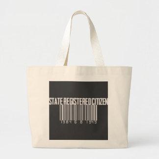 State Registered Citizen Jumbo Tote Bag