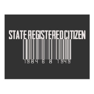 State Registered Citizen Post Card