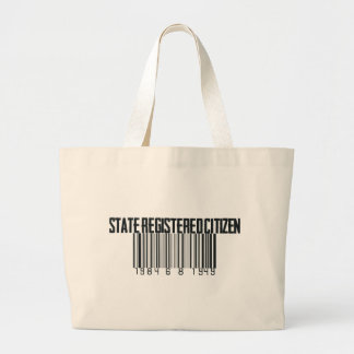 State Registered Jumbo Tote Bag
