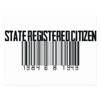 State Registered Postcard
