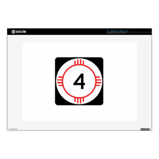 """State Road 4, New Mexico, USA Decal For 15"""" Laptop"""