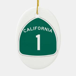 State Route 1, California, USA Ceramic Ornament