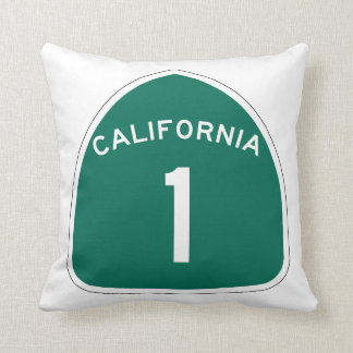 State Route 1, California, USA Pillow