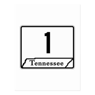 State Route 1, Tennessee, USA Postcard