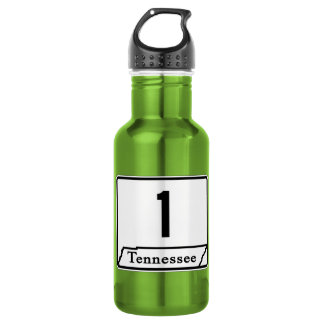 State Route 1, Tennessee, USA Water Bottle