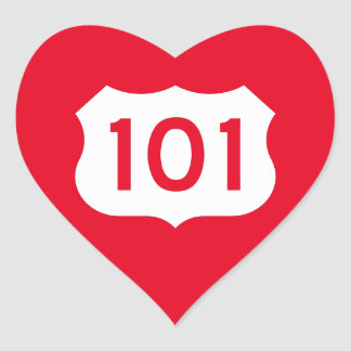 State Route 1, xxx, USA Heart Sticker