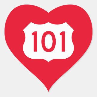State Route 1, xxx, USA Heart Sticker