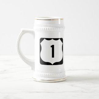 State Route 1, xxxx, USA Beer Stein