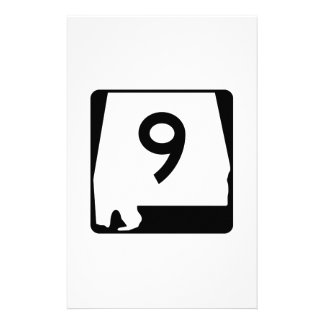 State Route 9, Alabama, USA Stationery Paper