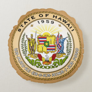 State seal of Hawaii Round Pillow