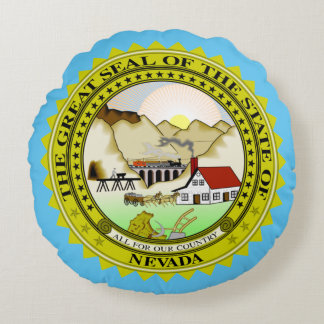 State seal of Nevada Round Pillow