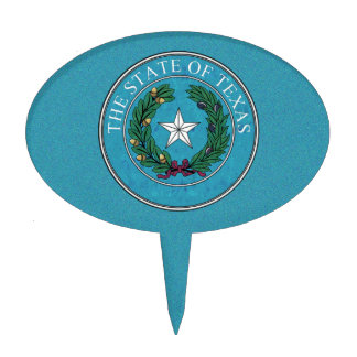 STATE SEAL OF TEXAS CAKE TOPPER