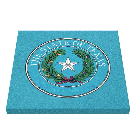 STATE SEAL OF TEXAS CANVAS PRINT