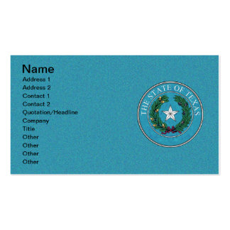 STATE SEAL OF TEXAS Double-Sided STANDARD BUSINESS CARDS (Pack OF 100)