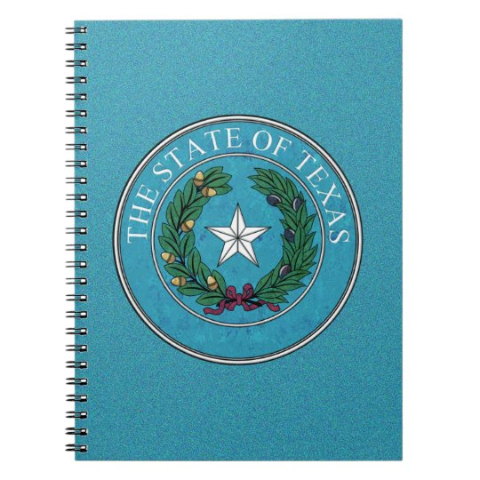 STATE SEAL OF TEXAS NOTEBOOK
