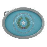STATE SEAL OF TEXAS OVAL BELT BUCKLE