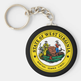State seal of West Virginia Keychain