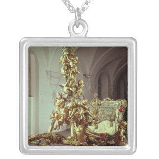State sleigh of Ludwig II  built 1872-80 Square Pendant Necklace