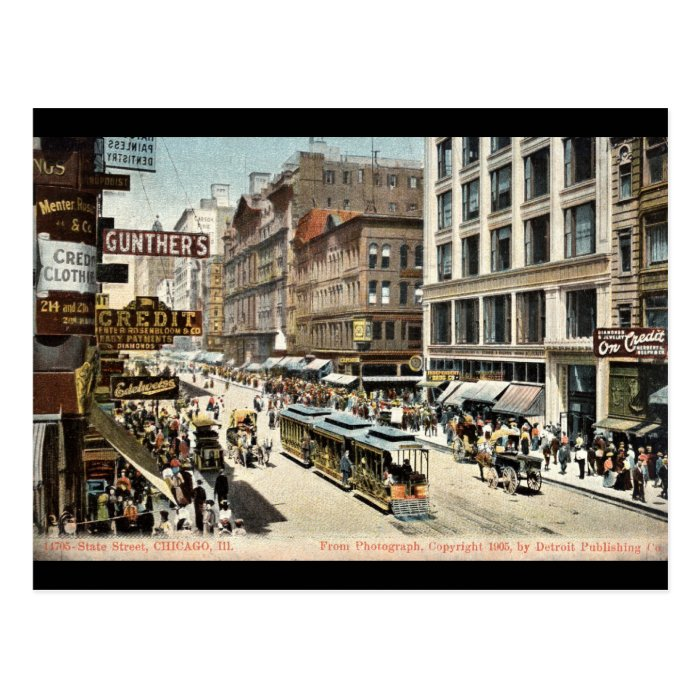 State St Chicago IL Vintage 1905 Postcard