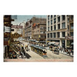 State St Chicago IL Vintage 1905 Poster
