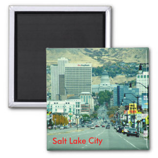 State Street 2 Inch Square Magnet