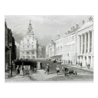 State Street, Boston,engraved by S.Lacey Postcard