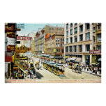 State Street, Chicago, Illinois 1905 Vintage Poster