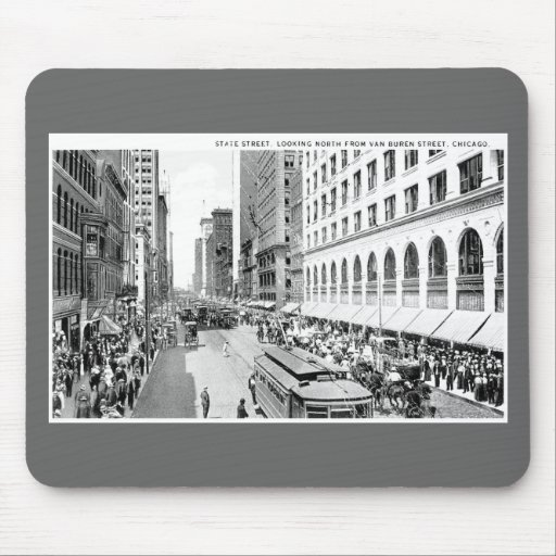 State Street, Chicago, Illinois Mouse Pad