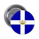 State   the Kingdom Greece, Greece 2 Inch Round Button