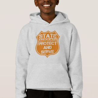 State Trooper Badge Protect and Serve Hoodie