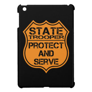 State Trooper Badge Protect and Serve iPad Mini Cases