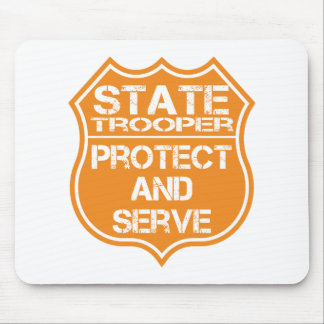 State Trooper Badge Protect and Serve Mouse Pad